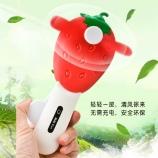 新款创意红色草莓手压风扇学生儿童玩具手持小风扇