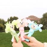 兔子双头手压风扇儿童趣味玩具环保软叶迷你手持风扇