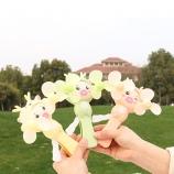 小猪双头手压风扇儿童趣味玩具环保软叶迷你手持风扇