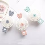兔子折叠夜灯风扇卡通可爱便携式宿舍办公室迷你小风扇