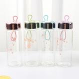 320ML小碎花单层玻璃杯学生可爱迷你便携喝水杯子