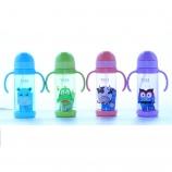 450ML儿童吸管学饮杯塑料太空杯 可爱儿童背带手柄两用