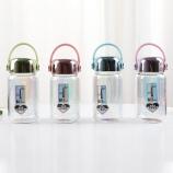 280ML韩版乐悠绚彩镜面玻璃杯学生便携手提杯子