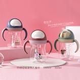 320ML创意防喷吸嘴萌物塑料杯卡通可爱儿童吸管杯