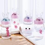 250ML韩版亮片MIKE兔单层玻璃杯简约小清新杯子
