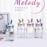 320ML韩版卡通MELODY兔单层玻璃杯小清新喝水杯子