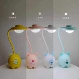 韩版萌小鹿台灯USB充电三档调光护眼灯可弯曲