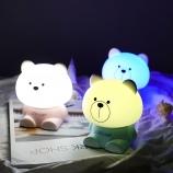 卡通小熊变色夜灯卧室床头灯儿童护眼学习台灯