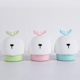 卡通小鹿变色七彩拍拍小夜灯USB充电伴读床头灯