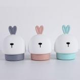 卡通兔子变色七彩拍拍小夜灯USB充电伴读床头灯