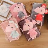 创意小老鼠电暖袋充电热水袋已注水加绒暖手宝电暖宝