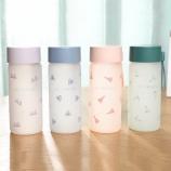 300ML韩版象牙塔时尚磨砂手感玻璃杯小清新随手杯子