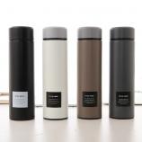 500ML创意极简英文保温杯304不锈钢商务直身水杯子