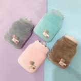 小号毛绒布套硅胶注水热水袋暖手宝防爆安全暖水袋