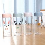 300ML卡通动物表情时尚玻璃杯小清新单层透明杯子
