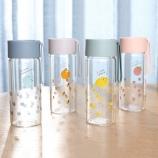 300ML韩版萌萌水果时尚玻璃杯学生清新便携手提水杯