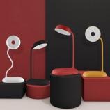 触摸三档调光LED台灯可弯曲USB充电卧室读书床头灯