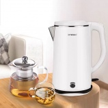 1.8L电水壶电热水壶304不锈钢热水壶厨房白色壶开水壶