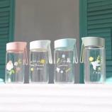 310ML繁花飞鸟玻璃杯可爱小清新便携喝水杯超萌杯子