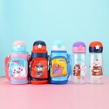 700ML小背包布套塑料儿童杯大容量软嘴吸管便携杯子