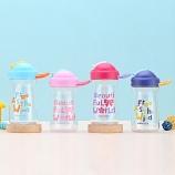 330ML亿本亲亲儿童水壶吸管塑料杯卡通手提便携水杯