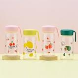 360ML时尚水果派美客玻璃杯可爱水杯手提便携杯子