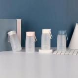 380ML心心相印磨砂塑料杯便携带杯子小清新随手杯