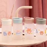 310ML小熊软糖玻璃杯小清新便携带手提水杯子
