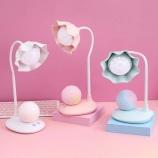 花朵灯头月球触摸台灯创意设计学生卧室床头灯护眼