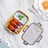 800ml可妮不锈钢饭盒创意爱心便当盒学生午饭盒