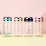 150ML炫彩猫玻璃杯男女学生小巧迷你型可爱水杯便携带杯子