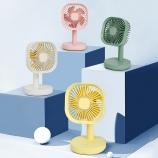 简约时尚方形带灯小风扇宿舍桌面创意个性迷你风扇