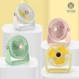 简约时尚置物架座扇360度旋转创意个性迷你带灯风扇