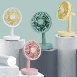 简约时尚圆形带灯小台扇小风扇桌面创意个性风扇