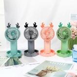 麋鹿风扇带泡泡卡通可爱桌面迷你小风扇便携夏季电风扇