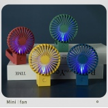 简约时尚折叠充电风扇迷你带灯便携带风扇创意个性