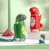 400ml恐龙背带水壶爱可爱卡通儿童水杯户外便携杯子