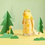 450ml长颈鹿背带水壶可爱卡通儿童水杯户外便携杯子