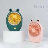 青蛙宠物台式风扇萌趣宿舍桌面风扇便携带可爱迷你风扇