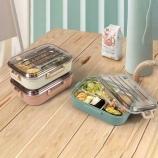 800ml可妮不锈钢保温饭盒学生便携餐盒分格式饭盒
