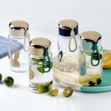300ML可爱卡通玻璃杯学生情侣单层透明简约便携随手杯