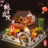 别墅系列-万乐diy小屋中国风日式手工制作拼装模型