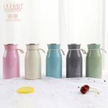 350ML韩版色彩系列牛奶瓶保温杯304不锈钢提手杯子