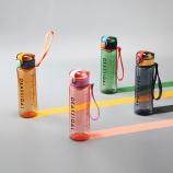 500ML英文弹盖提绳塑料杯创意潮流运动水杯