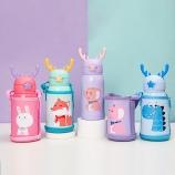 600ML熊小斗幸福游乐场系列儿童壶316不锈钢背带保温杯