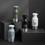 360ML创意鹅卵石保温杯304不锈钢男女商务礼品杯定制