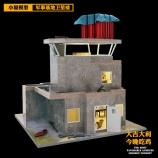 JD系列-卫星楼diy小屋绝地求生建筑模型手工制作房子
