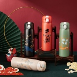 520ml新国潮弹跳盖保温杯中国风复古创意文艺杯子