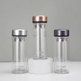 260ML新品冠商务玻璃杯双层泡茶杯子礼品定制水杯