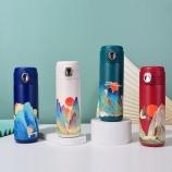 400ML创意国潮山水画保温杯个性潮流中国风文艺杯子